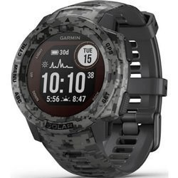 Zegarek - Smartwatch Garmin Instinct Solar Camo Edition czarny