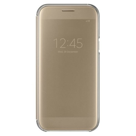 Etui Clear view cover do A5 (2017) Gold złoty