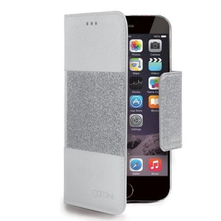 Etui Flip Cover Glitter Agenda do iPhone 6 białe