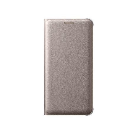 Etui Flip Wallet do Samsung Galaxy A3 (2016) Gold Złoty