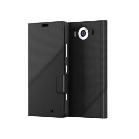 Etui MOZO Thin Flip Cover Lumia 950 Black