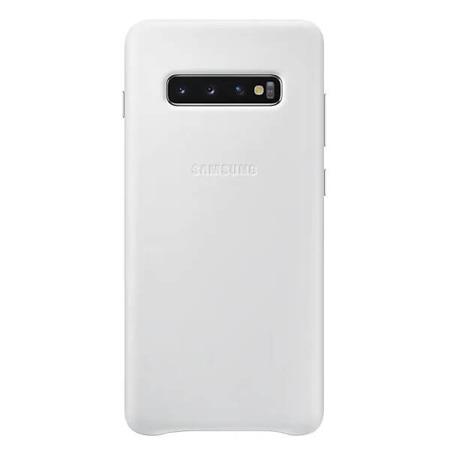 Etui do Samsung Galaxy S10+ białe skórzane