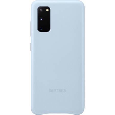 Etui do Samsung Galaxy S20 - skórzane błękitne