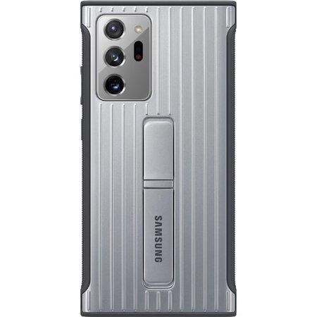 Etui pancerne do Samsung Galaxy Note 20 Ultra srebrne z podstawką