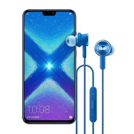 Honor 8X 4/128GB niebieski + słuchawki AM17