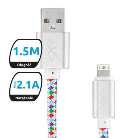 Kabel USB-Lightning eXc DIAMOND,mix