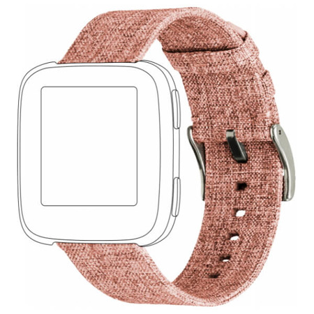 Pasek TOPP do Fitbit Versa nylon pleciony pomarańczowy