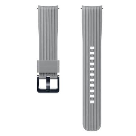 Pasek silikonowy (20mm) do Samsung Galaxy Watch (42mm) szary