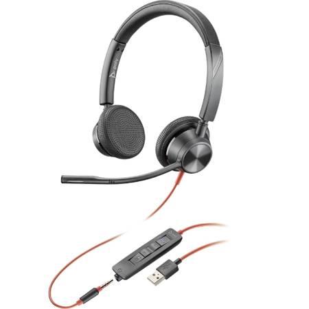 Słuchawki z mikrofonem Poly Blackwire C3325 USB-A & 3,5 mm