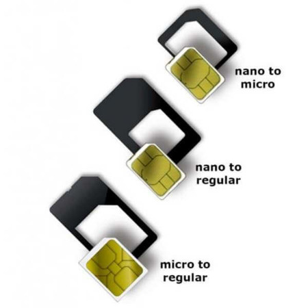 WG Adapter SIM set Micro --> to regular Nano -->  to regularNano -->  to micro