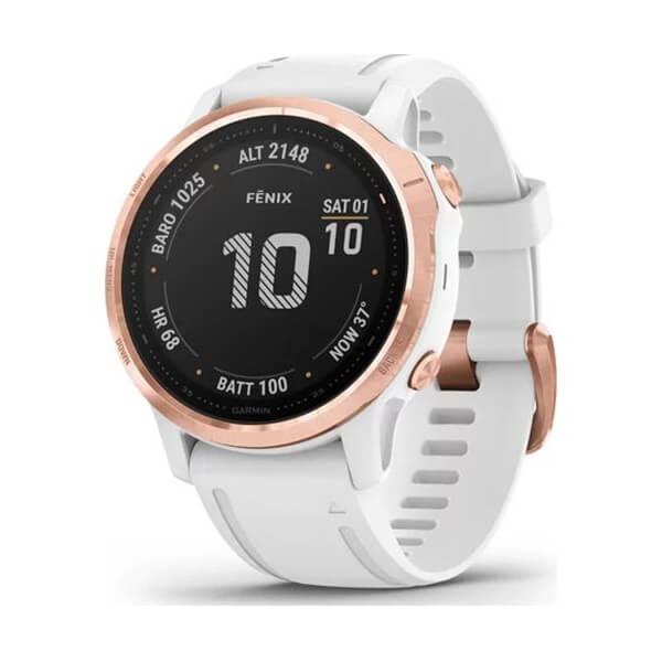 Zegarek GARMIN Fenix 6S Pro Smartwatch różowe złoto - biały