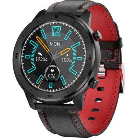 Zegarek - Smartwatch Męski Garett 5S czarno-czerwony
